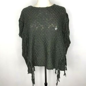 Bethany Mota Open Knit Sweater Short Sleeve